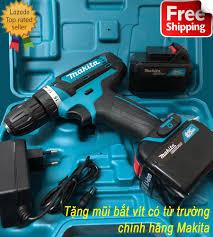 Mua ngay Máy khoan mini dùng pin, bắt vít Makita 370W - 2 Pin 21V siêu bền  chính hãng giá tốt tại Lazada.vn. Mua hàng online giá rẻ, bảo hành chính  hã…