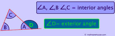 Interior Angles Chart Rules Of A Triangle Sides Angles Exterior Angles Degrees