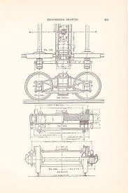 1886 technical drawing railroad car antique math geometric drafting interior design blueprint art ilration framing 100 years old treintje