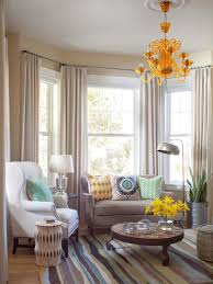 Bay Window Curtains Houzz With Regard To Decorations 1