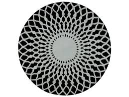 round wool rug with geometric shapes trama by gan