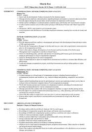 Fantastic Compensation Analyst Resume With Additional Senior