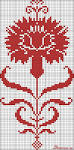 Гвоздика схема вышивки