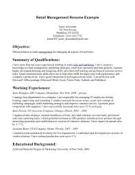 Examples Of Retail Resumes Classy Resume Examples Retail Resume Objective Examples Objective To