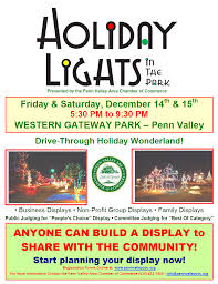 Build Your Own Flyer Holiday Lights In The Park Build Your Own Display Penn Valley