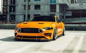 Flashing Orange Muscle Car Ford Mustang ...