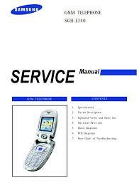 Samsung SGH E340 GSM Service Manual ...