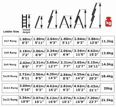 Step Ladder Size Chart Combi All In One Extension Ladders Step Ladder Free
