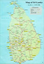 Sri Lanka Road Map Distance Calculator