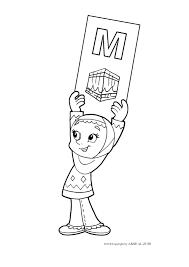 Mewarnai Gambar Kartun Muslimah Hijab Azhanco Ana Muslim Colouring