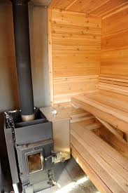 Wood Fired Sauna Designs Wood Burning Sauna Feed From The Outside Or Inside