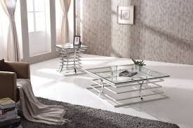 Perfect Modrest Snyder Modern Square Glass Coffee Table