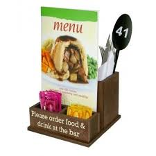 condiment cutlery holder vinyled wooden