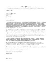 Cover Letter For Network Engineer The Letter Sample