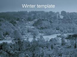 Snow Templates Winter Powerpoint Template