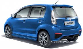 perodua new release carPerodua Myvi facelift rendered with new rear view