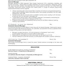 Sample General Manager Resume General Manager Resume Restaurant Assistant General Manager Resume