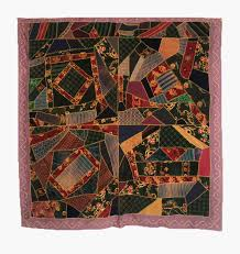 Crazy Quilts - American Antique - Unique Victorian Antique Quilts & Q8213 Folk Art Upholstery Crazy Quilt Adamdwight.com