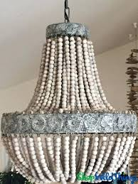 coming soon chandelier coco wooden beaded strands large antique whitewash wood bead full size