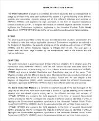 Work Instruction Manual Template Magdalene Project Org