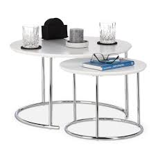 side tables set of 2 round nest of tables small coffee table 60x60