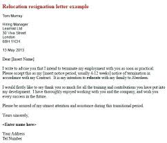Relocation Notice Template Relocation Cover Letter Template