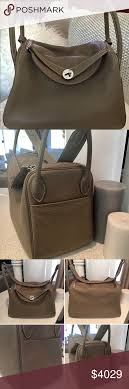 Authentic HERMES LINDY 30 ETOUPE BAG 2013 $8K