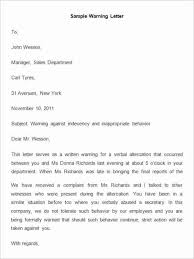 sample letter employee 23 hr warning letters free sample example format free in employee