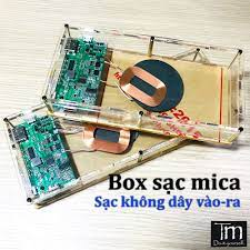 Box Sạc Dự Phòng Mica Trong Suốt Có Sạc Không Dây Vào-ra 6-8 cell - Đế sạc  không dây Nhãn hàng No Brand