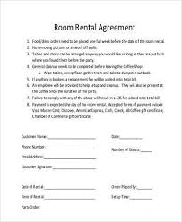 room rental agreements california free 8 room rental agreement sample forms in word pdf