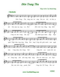 Sheet nhạc bài Đón Trung Thu - Hợp Âm Việt
