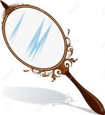 hand mirror. Illustration - Of A Hand Mirror