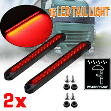 Slim Led Trailer Lights Details About 2x Red 15 Led Stop Tail Light Ultra Slim Blinker Light For Trailer Rv Truck Ute