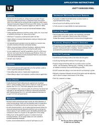 Lp Smartside Coverage Chart Application Instructions