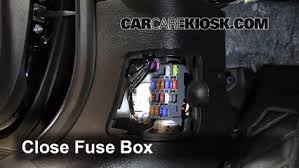 interior fuse box location 2009 2013 mazda 6 2009 mazda 6 i 2 5 5 test component secure the cover and test component 6