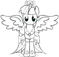 Twilight Sparkle Coloring Pages Pdf My Little Pony Coloring Page