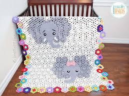 Josefina and Jeffery Elephant Blanket PDF Crochet Pattern IraRott Inc Enchanting Crochet Patterns