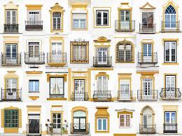 ... Decoration Architectural Window While In Evora Portugal The Windows All  Have A Common Colour ...