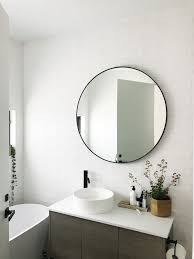 bathroom mirror. gina\u0027s home: black and white bathroom reveal mirror