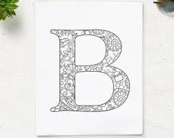 Letter B Coloring Pages For Adults Color Bros