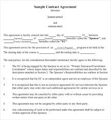 Business Contract Between Two Parties Template Agreement Template