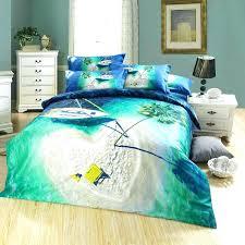 beach themed 3d green lake heart shaped island palm tree bedding set queen size duvet cover bedlinenbeach themed
