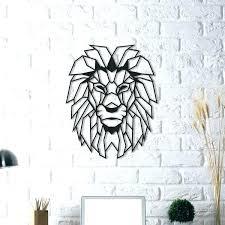 modern metal wall art geometric metal wall art fancy lion head metal wall art geometric modern modern metal wall
