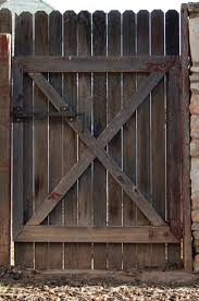 double fence gate. Step 1 Double Fence Gate