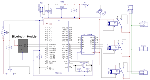 bluetooth controlled home automation system using 8051 microcontroller bluetooth controlled home automation system circuit diagram