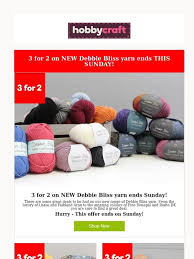 Hobbycraft New Debbie Bliss Yarn Plus 3 For 2 Ends This