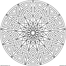 Small Picture Geometric Design Coloring Pages Printable Coloring Coloring Pages