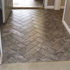 herringbone tile floor. Scenic Grey Wall Painted Ideas Also Cool Interior Swing Door In White Finished Porcelain Herringbone Tile Floor Pattern As Inspiring Midcentury
