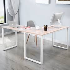 home office shaped. Merax L-Shaped Office Workstation Computer Desk Corner Home Wood Laptop Table Study Shaped
