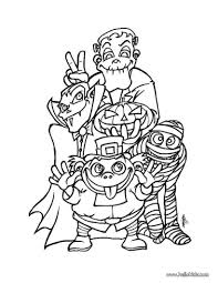 Small Picture Coloring Pages Spooky Monsters Coloring Pages Hellokids Monster